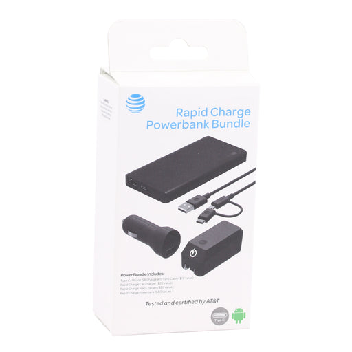 AT&T Rapid Charge Powerbank Bundle (10,000mAh) - Black