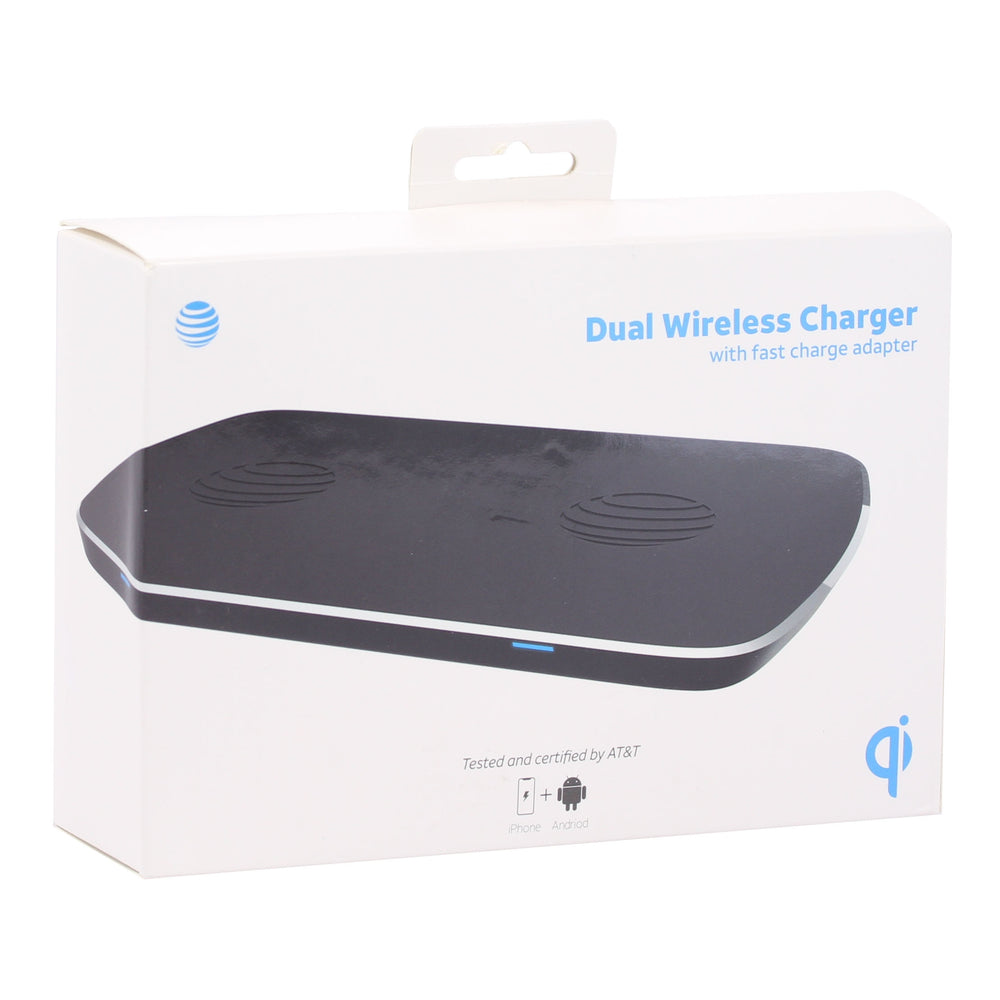 AT&T Fast Charge Wireless Charging Dual Pad - Black