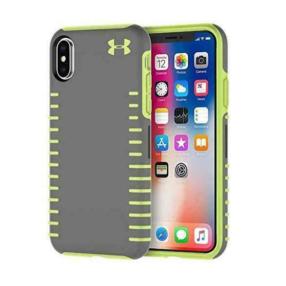 Under Armour Protect Grip Case for iPhone X / XS - Gray / Green