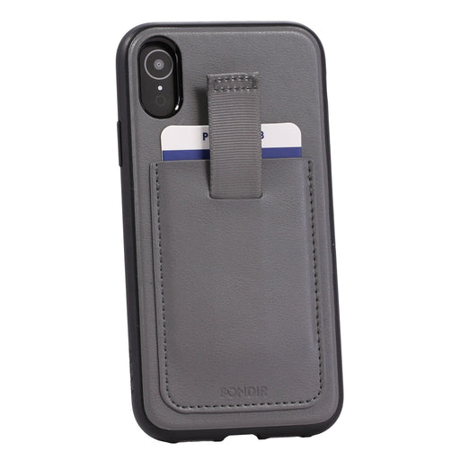 Bondir Leather Series Case for iPhone XR (ONLY) - Gray