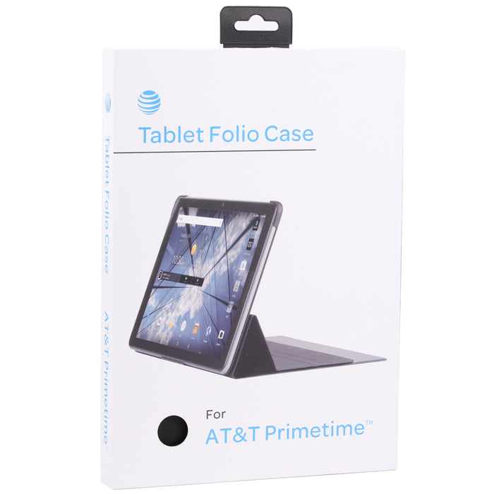 ZTE Tablet Folio Case For AT&T PrimeTime - Black