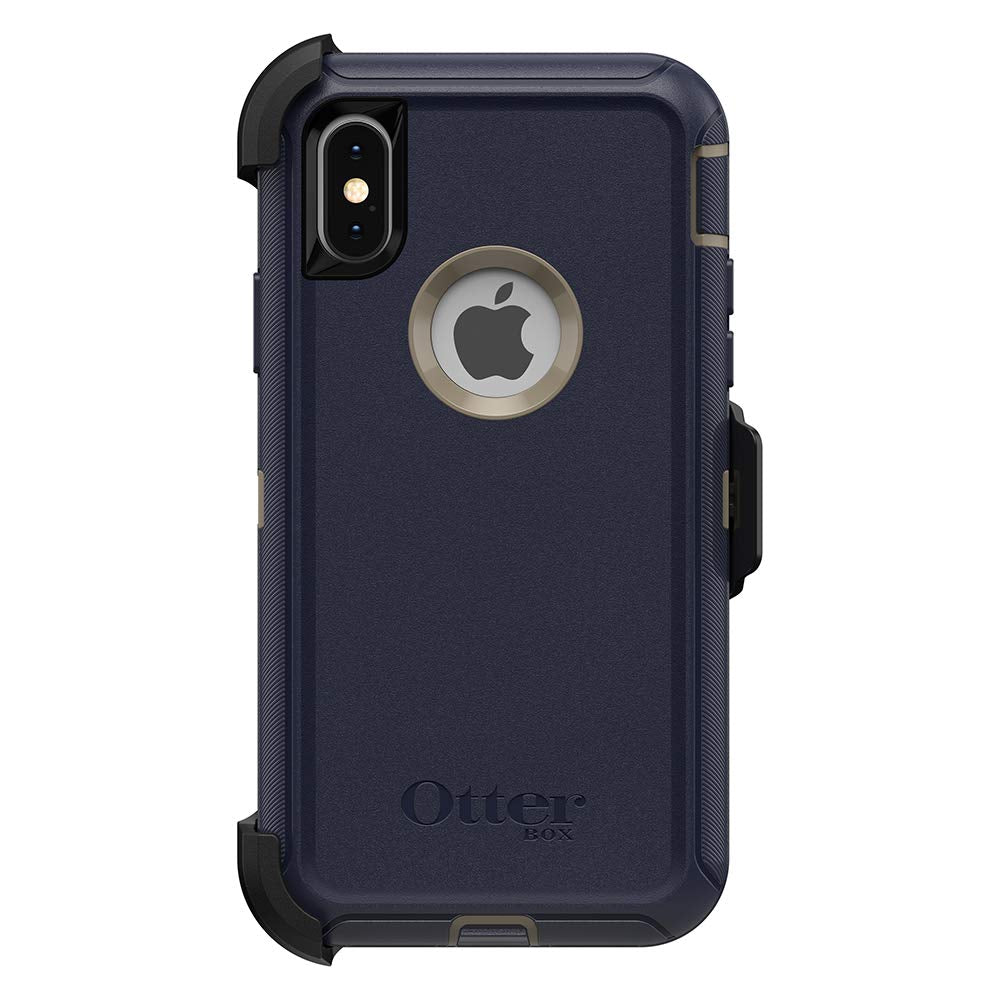 OtterBox DEFENDER SERIES Case & Holster for iPhone X / Xs - Dark Lake Blue