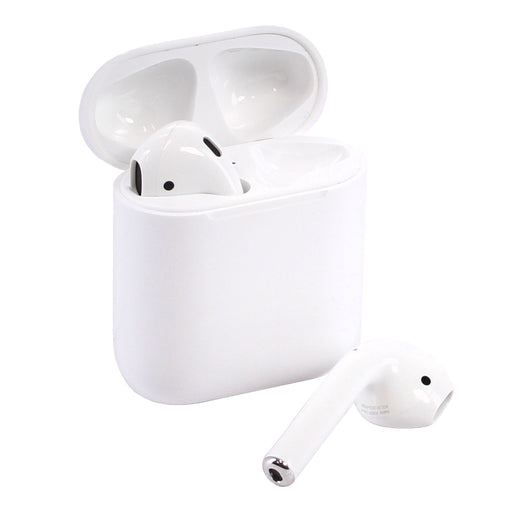 Apple AirPods 2 with Wireless Charging Case & OEM Cable - White