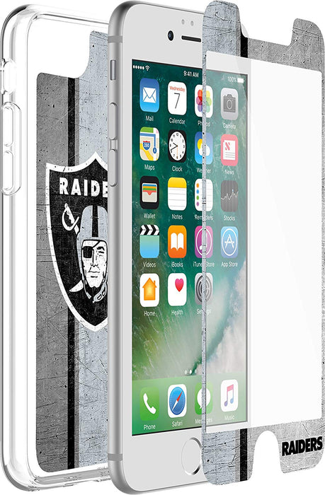 OtterBox ALPHA GLASS Screen Protector for iPhone 6 / 6S / 7 / 8 - Oakland Raiders