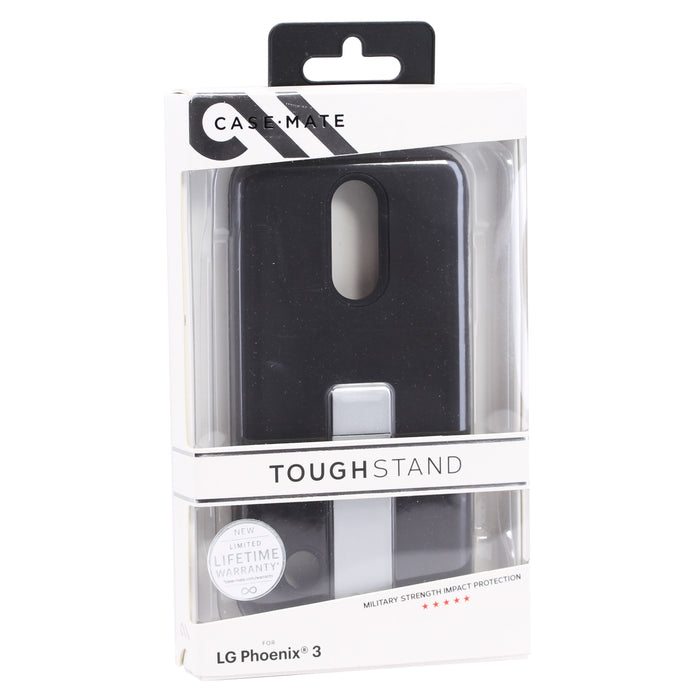 Case Mate Tough Stand For LG Phoenix 3 (ONLY) - Black