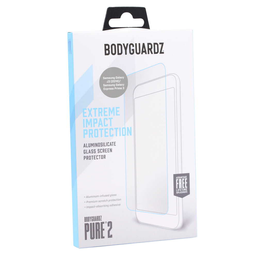 BodyGuardz Pure2 Glass Screen Protector For Galaxy J3(2018) / Express Prime 3