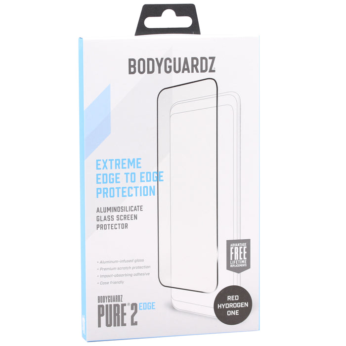 BodyGuardz Pure 2 Edge Glass Screen Protector For Red Hydrogen One