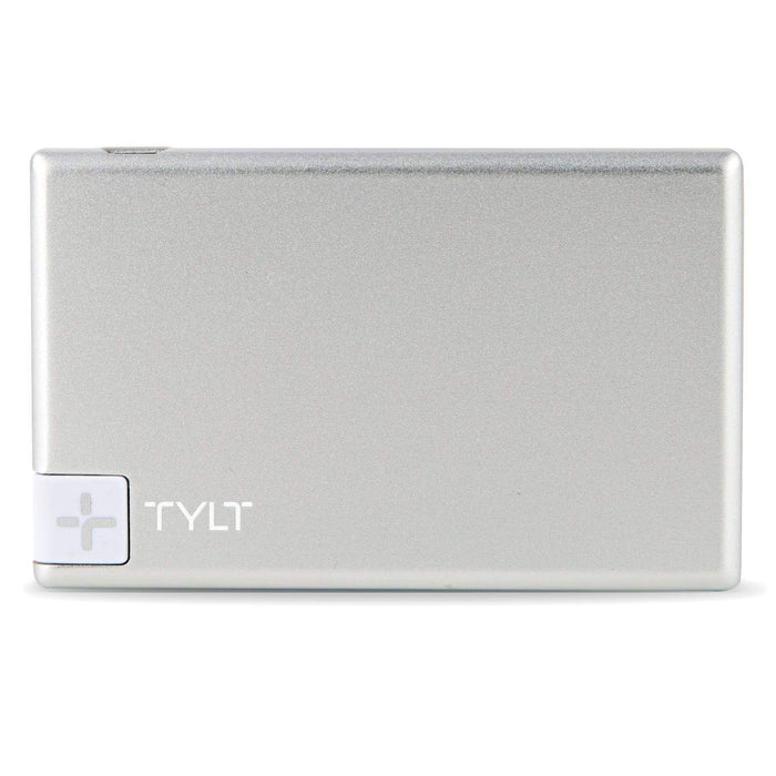 TYLT Slim Boost Battery Pack w/ Lightning Connector(1300mAh) - Silver