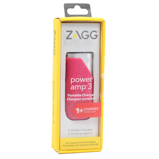 Zagg Power amp 3 Portable Charger (3000mAh) - Pink