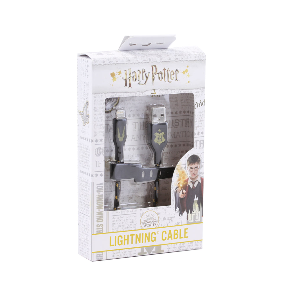 Ubio Labs Harry Potter USB-A to Lightning Cable, 4ft - Black