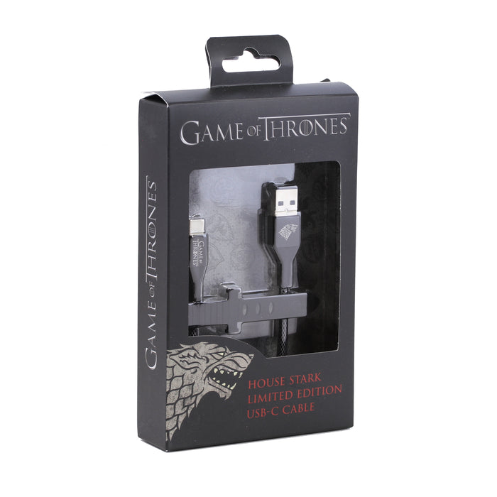 Ubio Labs Game of Thrones Type C Cable, 4ft - Stark / Black