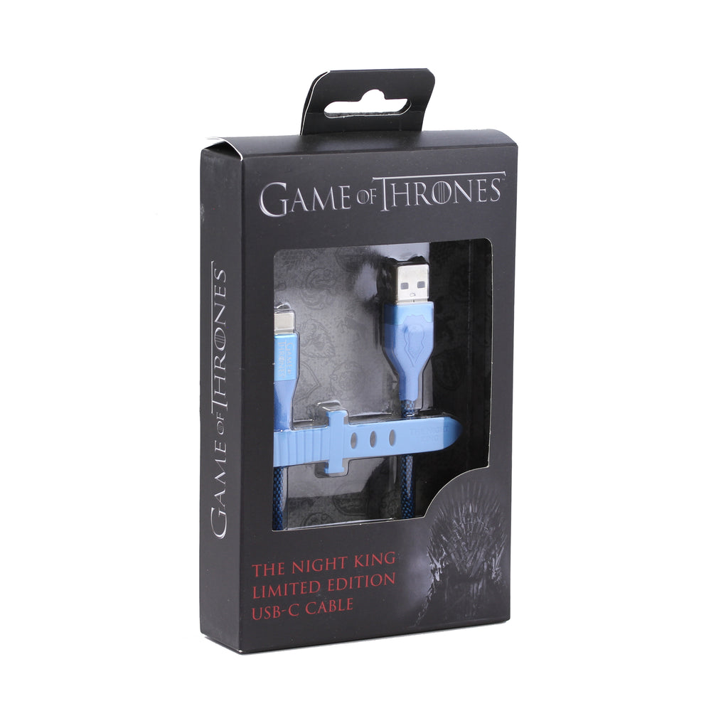 Ubio Labs Game of Thrones Type-C Cable, 4ft - The Night King / Blue