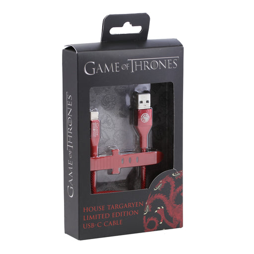 Ubio Labs Game of Thrones Type-C Cable, 4ft - Targaryen / Red