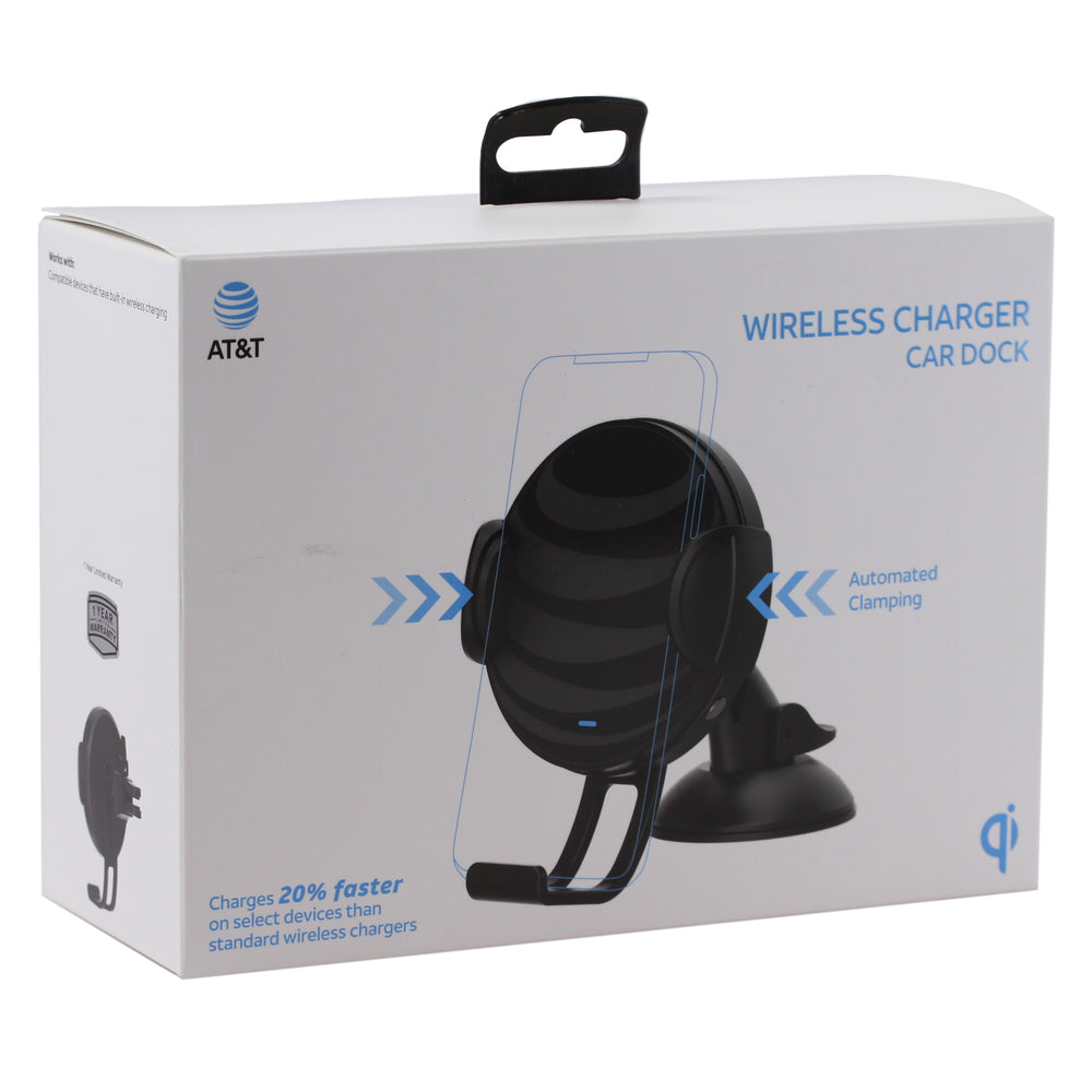 AT&T Fast Charge Wireless Charging Car Dock - Black