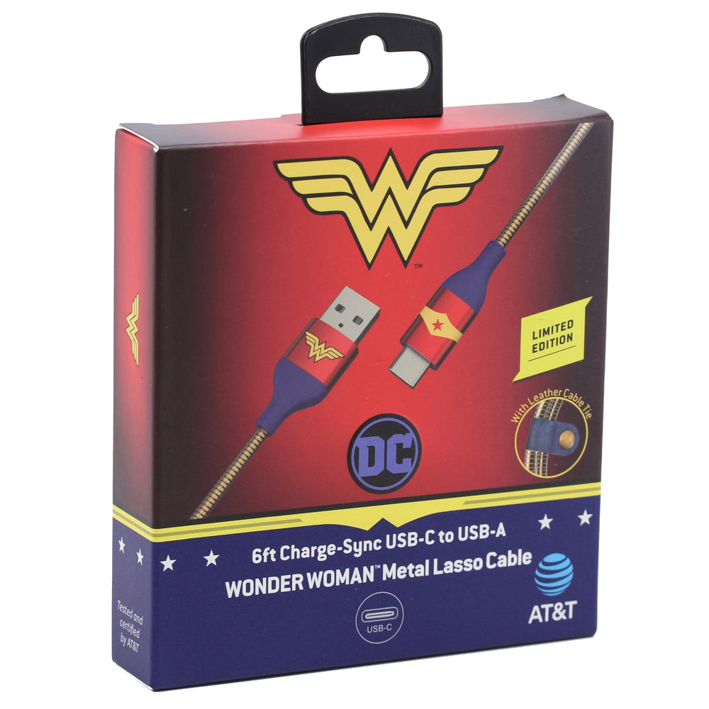 SUPERIOR AT&T 6FT Wonder Woman Type-C Cable - Gold