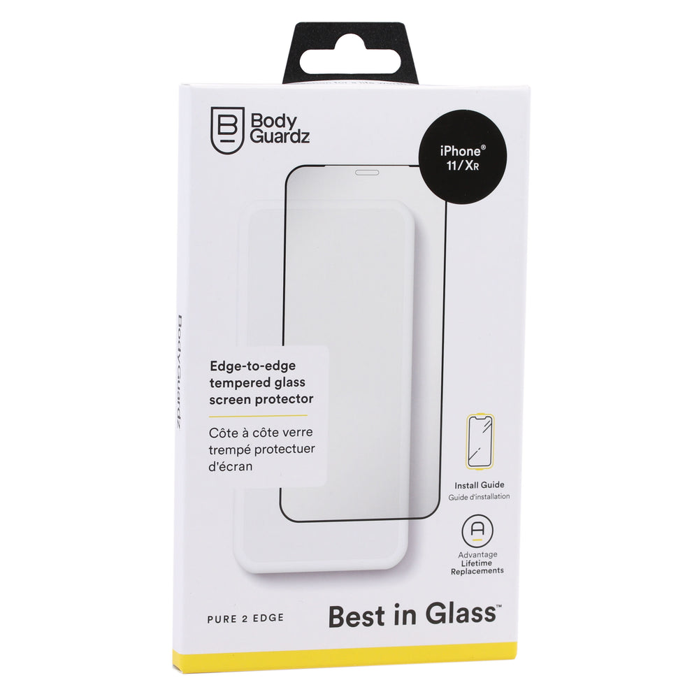 BodyGuardz Pure 2 Edge Glass Screen Protector For iPhone 11/XR