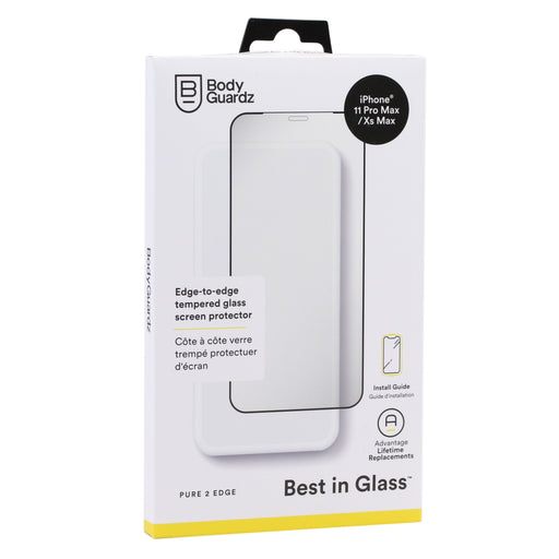 BodyGuardz Pure 2 Edge Glass Screen Protector For iPhone 11 Pro Max / XS Max