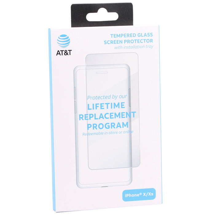 AT&T Tempered Glass Screen Protector For iPhone X/XS/11 Pro - Clear