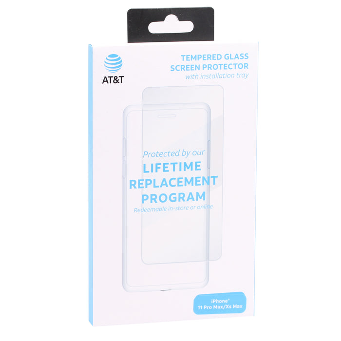 AT&T Tempered Glass Screen Protector For iPhone XS MAX - Clear