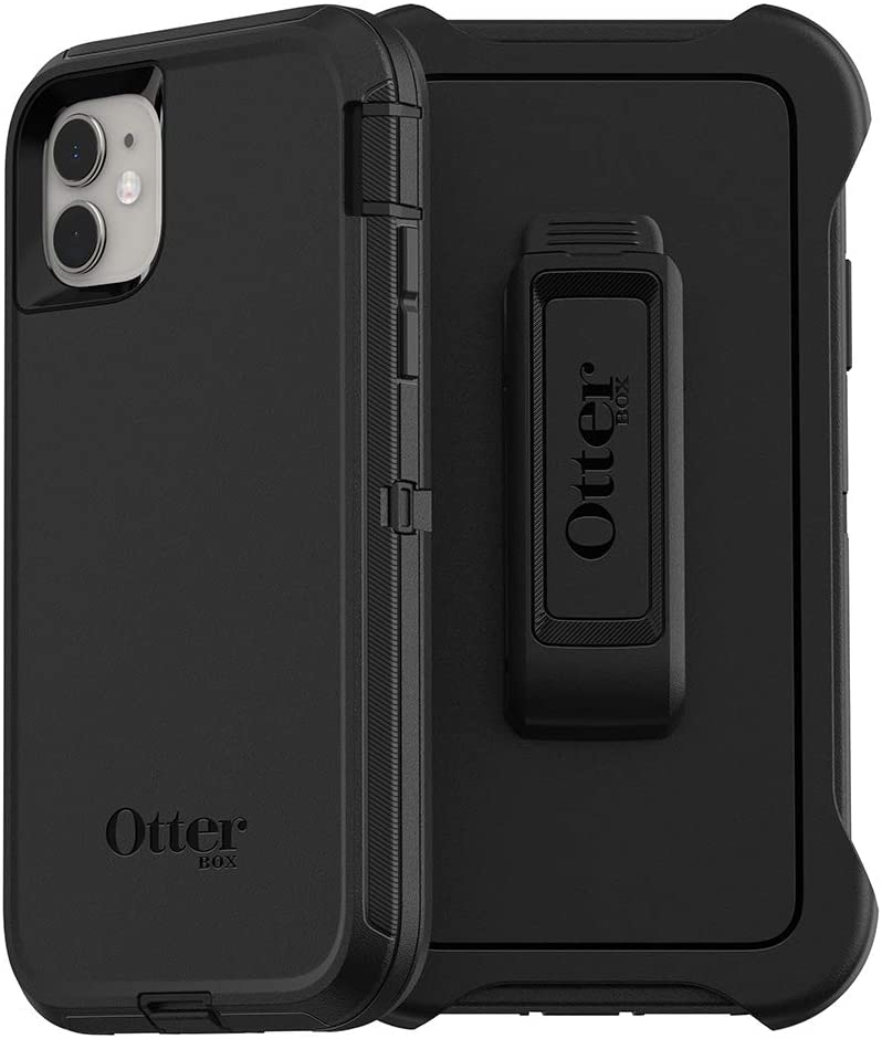 OtterBox DEFENDER SERIES Case & Holster for iPhone 11  - Black