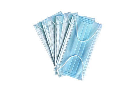 50-Pack 1AK Disposable 3-Ply Protective Face Masks