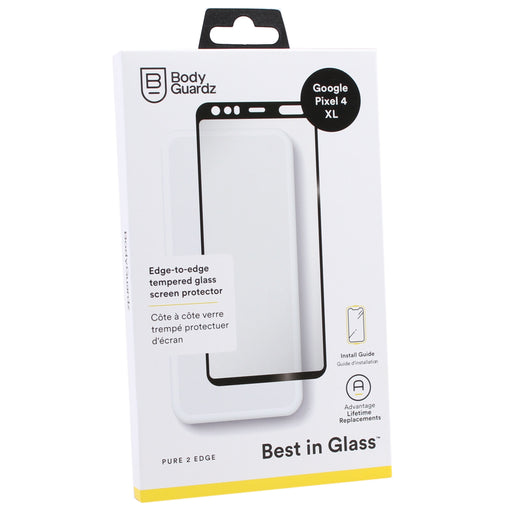 BodyGuardz Pure 2 Edge Tempered Glass Screen Protector for Google Pixel 4 XL