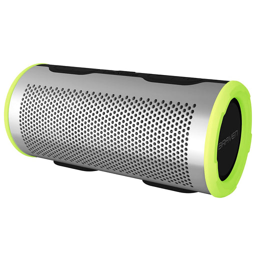 Braven Stryde 360 Waterproof Portable Bluetooth Speaker - Silver / Green