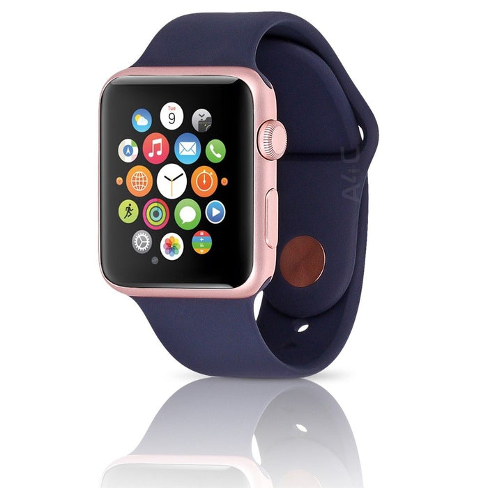 Apple Watch - Series 2 - 42MM Rose Gold Aluminum Case Midnight Blue Sport Band (Pre-Owned)