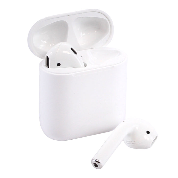 Apple AirPods Bluetooth Wireless Earphones & Charging Case with MFI Lightning Charging Cable (Pre-Owned)