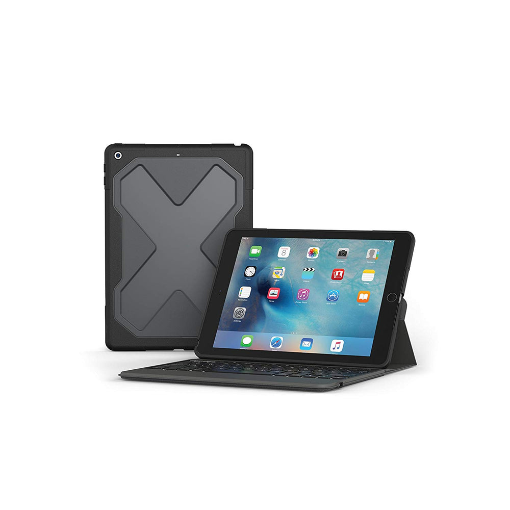 ZAGG Rugged Messenger Keyboard Folio Case for Apple iPad Air / Air 2 - Black (Pre-Owned)