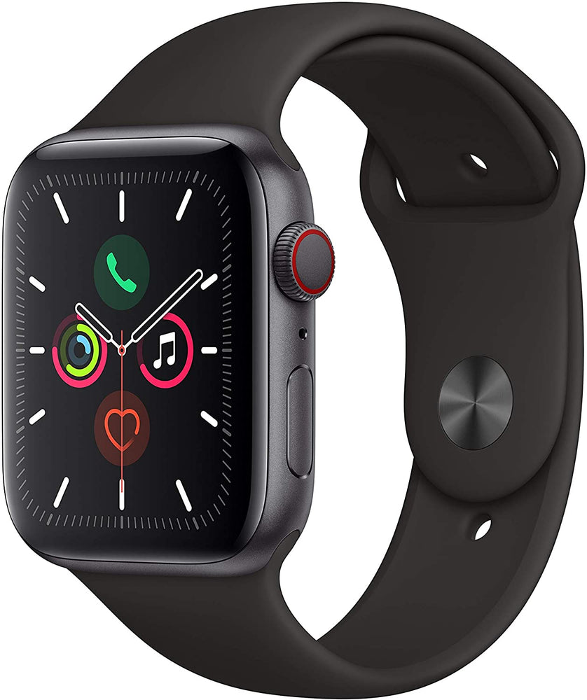 Apple Watch Series 5 GPS+LTE w/ 44MM Space Gray Aluminum Case & Black Sport Band (Pre-Owned)