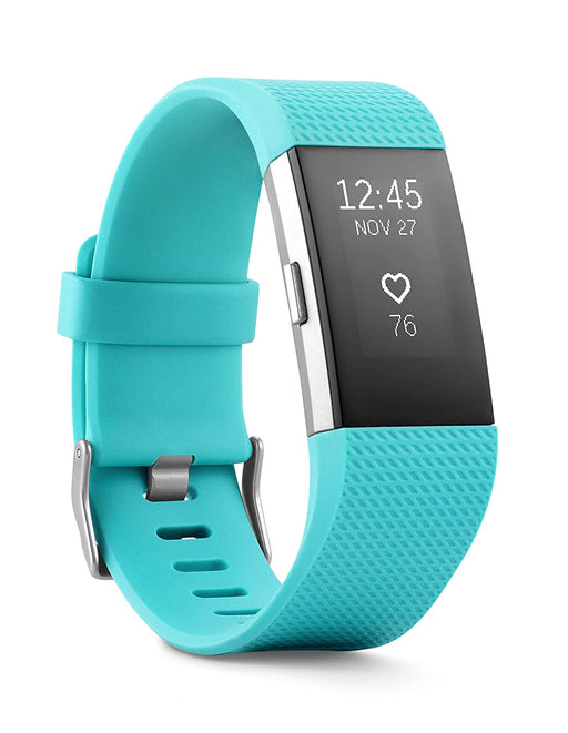Fitbit Charge 2 Activity Tracker + Heart Rate, Large Band - Teal (Pre-Owned)