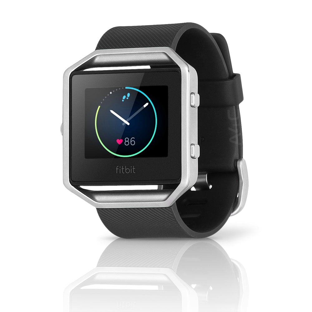 Fitbit Blaze Smart Fitness Watch,  Small Silicone Band - Black / Silver (Pre-Owned)