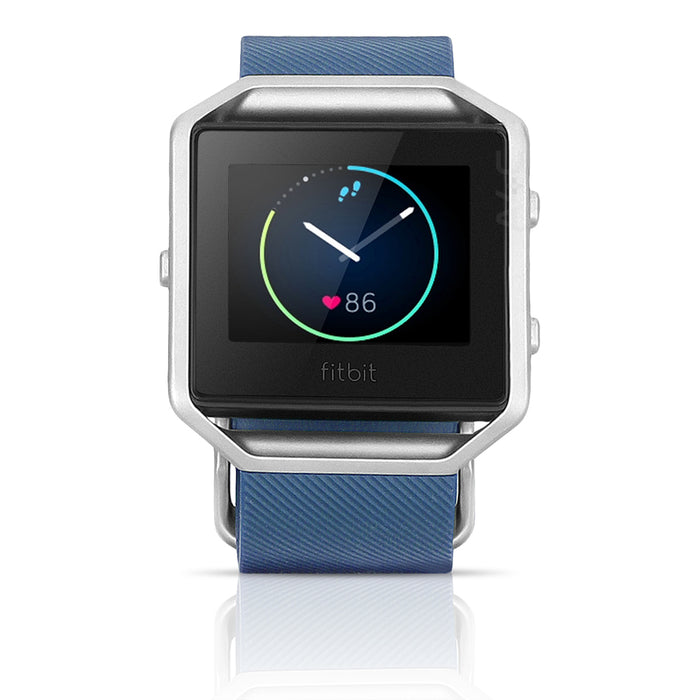 Fitbit Blaze FB502 Smart Fitness Silicone Watch - Small - Blue/Silver (Pre-Owned)