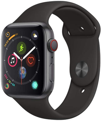 Apple Watch Series 4 GPS+LTE w/ 44MM Space Gray Aluminum Case & Black Sport Band (Pre-Owned)