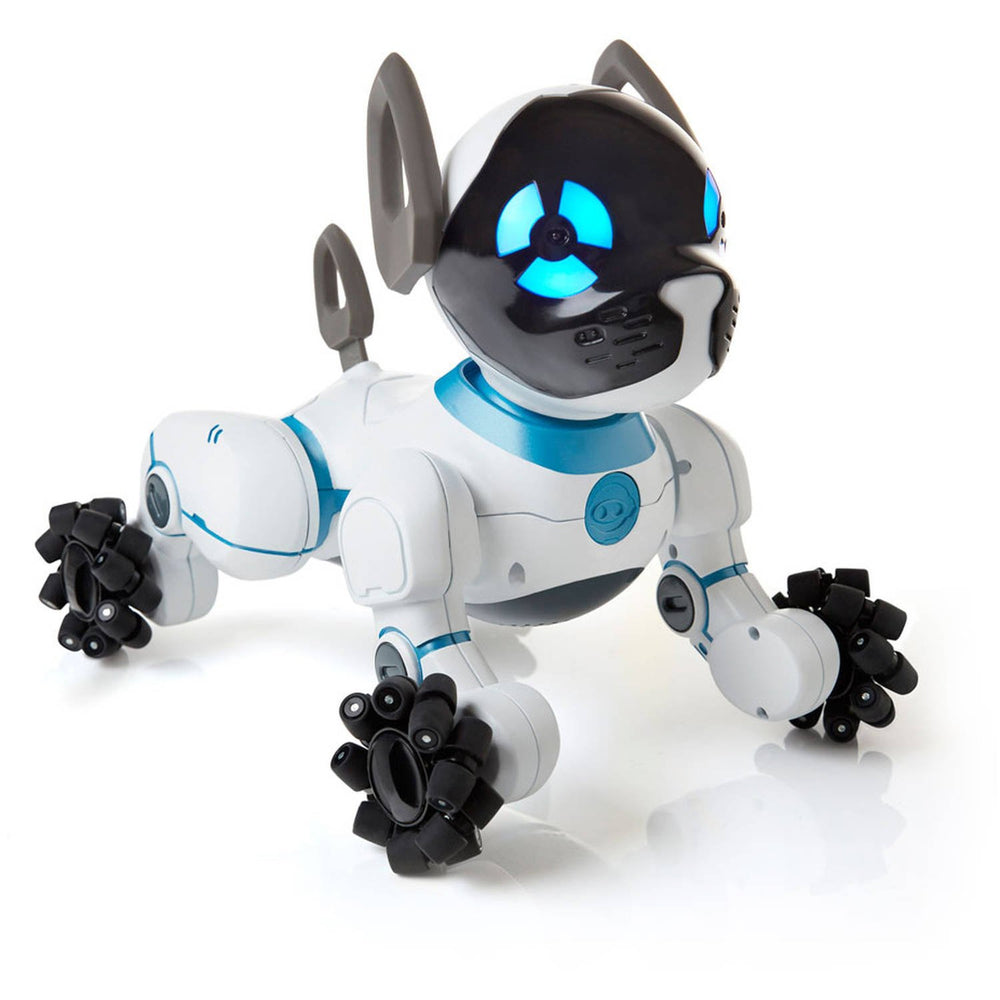 WowWee Chip Toy Robot Dog - Black / White (Refurbished)