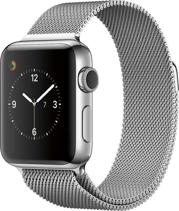 Apple Watch Series 2 w/ 38MM Stainless Steel Case & Milanese Loop Band (Refurbished)