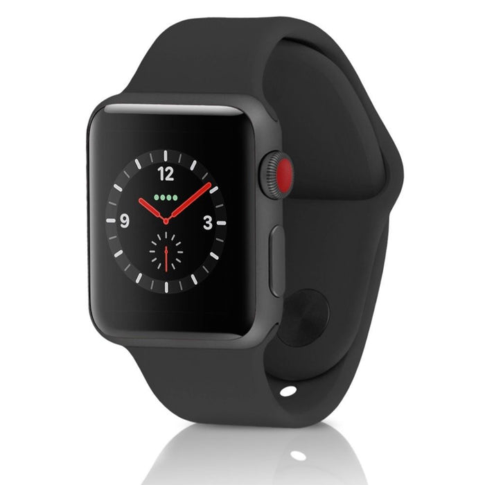 Apple Watch Series 3 (GPS) w/ 38mm Space Gray Aluminium Case & Black Sport Band (Refurbished)