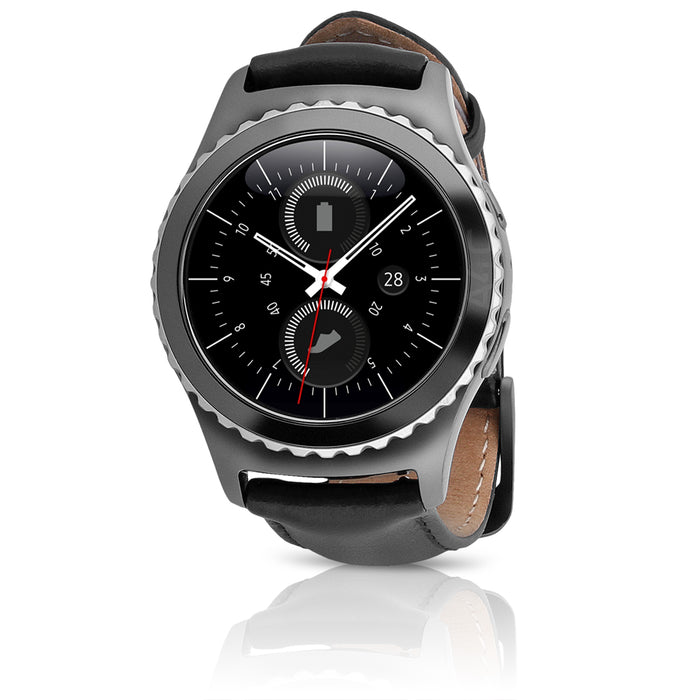 Samsung Gear S2 Classic Smartwatch, T-Mobile 4G with Black Leather Band (Refurbished)