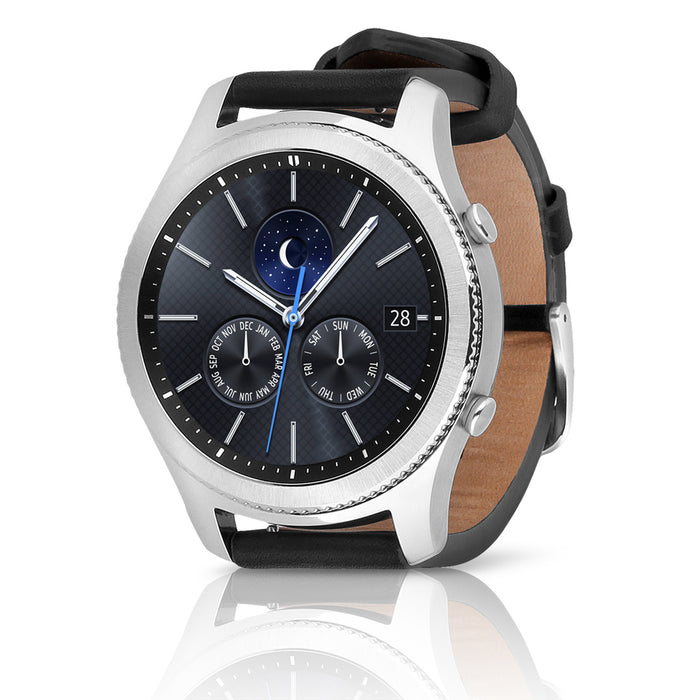 Samsung Watch - Gear S3 Classic (SM-R770) w/ Silver Case & Black Leather Band (Refurbished)