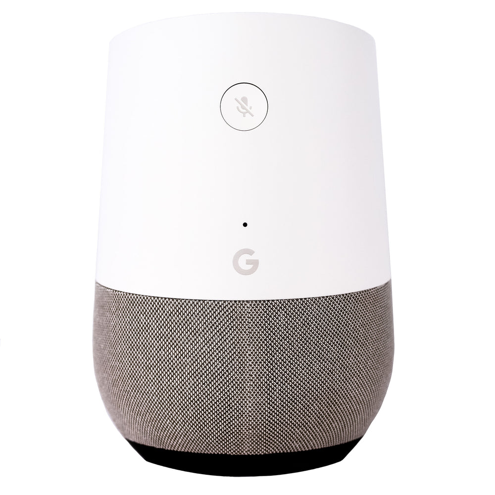Google Home Smart Speaker - White / Slate (Refurbished)