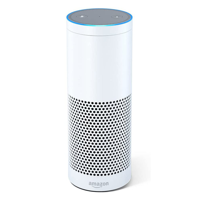 Amazon Echo Smart Speaker 1st Generation with Alexa Assistant - White (Refurbished)