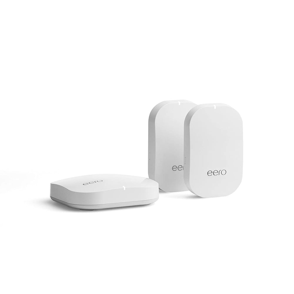 Eero Mesh Wi-Fi System 2nd Generation, 1 Eero + 2 Eero Beacons - White (Refurbished)
