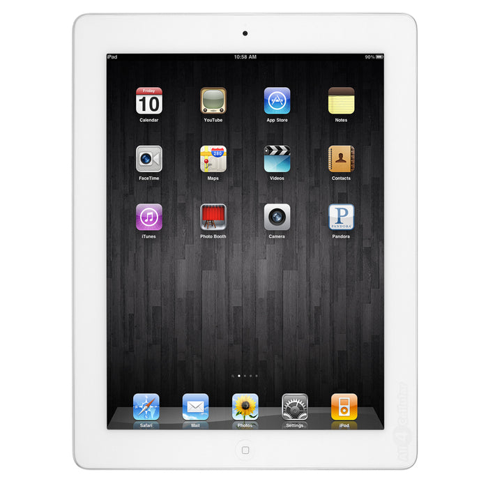 Apple iPad 4th Generation, 64GB, GSM Unlocked & Wifi - White (Certified Refurbished)