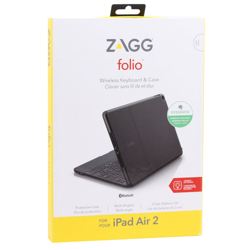 Zagg Folio Wireless Keyboard & Case for iPad Air 2 - Black (Refurbished)