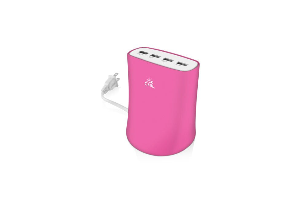 Chil Powershare Reactor Multidevice Usb Charging Station - Pink (Refurbished)