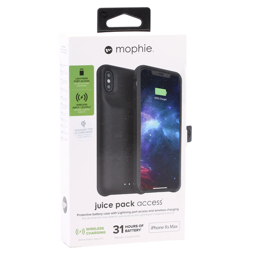 Mophie Juice Pack Access Protective Battery Case for iPhone XS Max - Black (Refurbished)