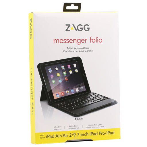 ZAGG Messenger Folio Tablet Keyboard Case for Apple iPad Pro 9.7 - Black (Refurbished)