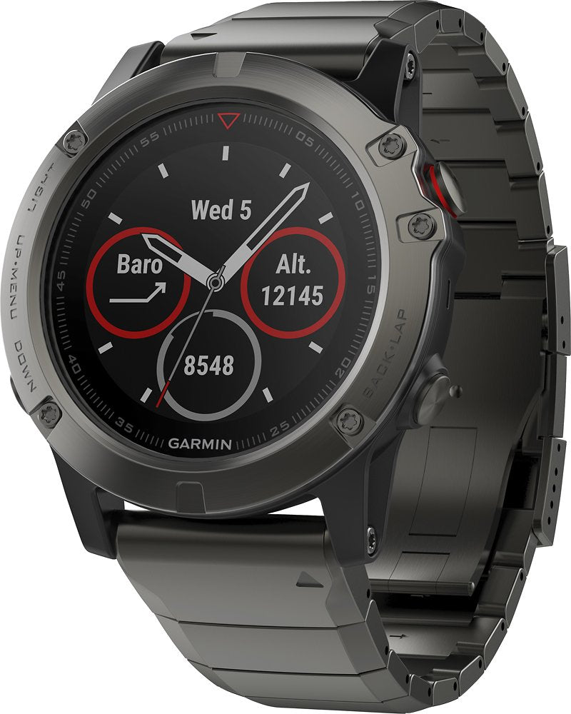 Garmin fenix 5X Sapphire 51MM Smartwatch Fiber-Reinforced Polymer - Slate Gray (Refurbished)