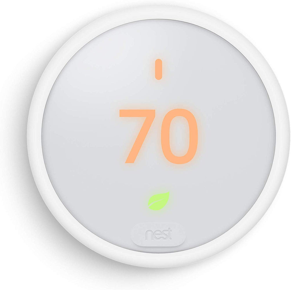 Google - Nest Thermostat E Smart Thermostat, T4000ES - White (Refurbished)